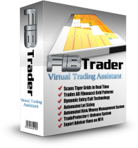 FibTrader Expert Advisor Forex Trading Software Box Blue